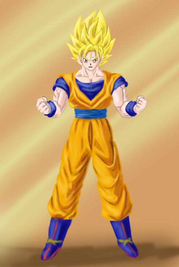 570x850 Learn How To Draw Goku Super Saiyan From Dragon Ball Z (Dragon