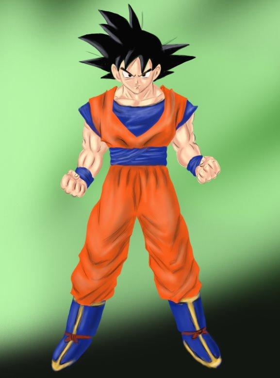 577x778 Learn How To Draw Goku From Dragon Ball Z (Doraemon) Step By Step