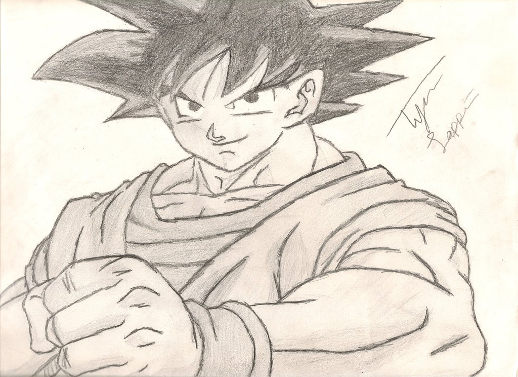 1024x744 My Goku Dragonball Z Drawing By IamCourier On DeviantArt