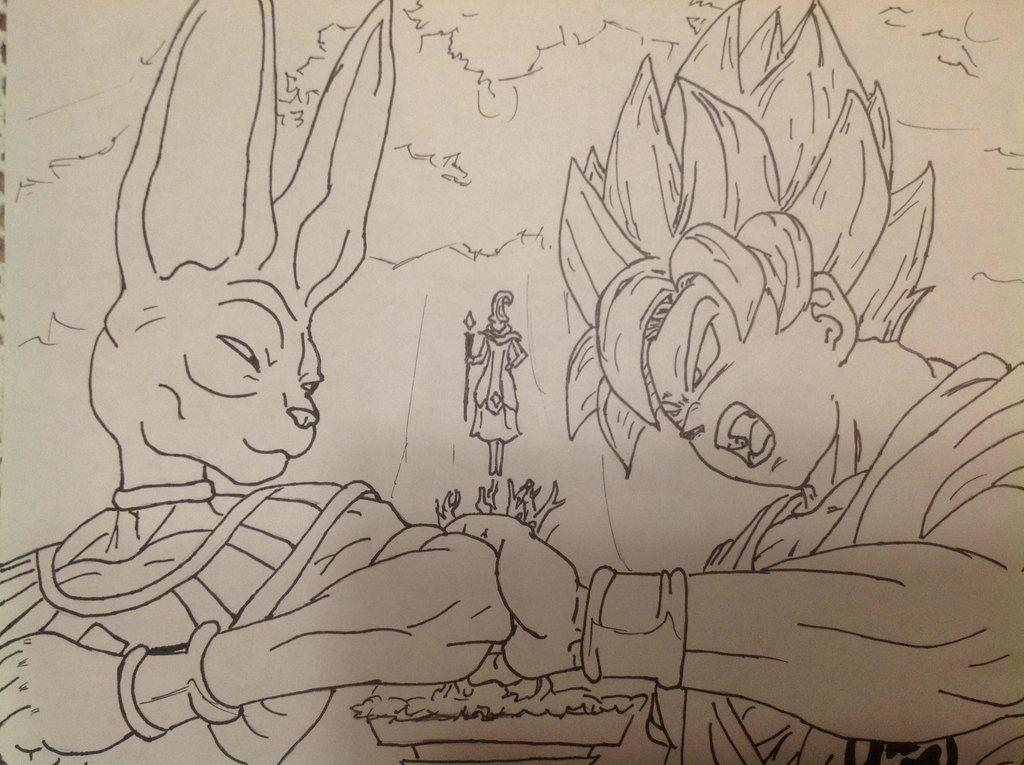 1024x765 Dbz Drawings Dragon Ball Z Battle Of The Gods By Shade Neru97