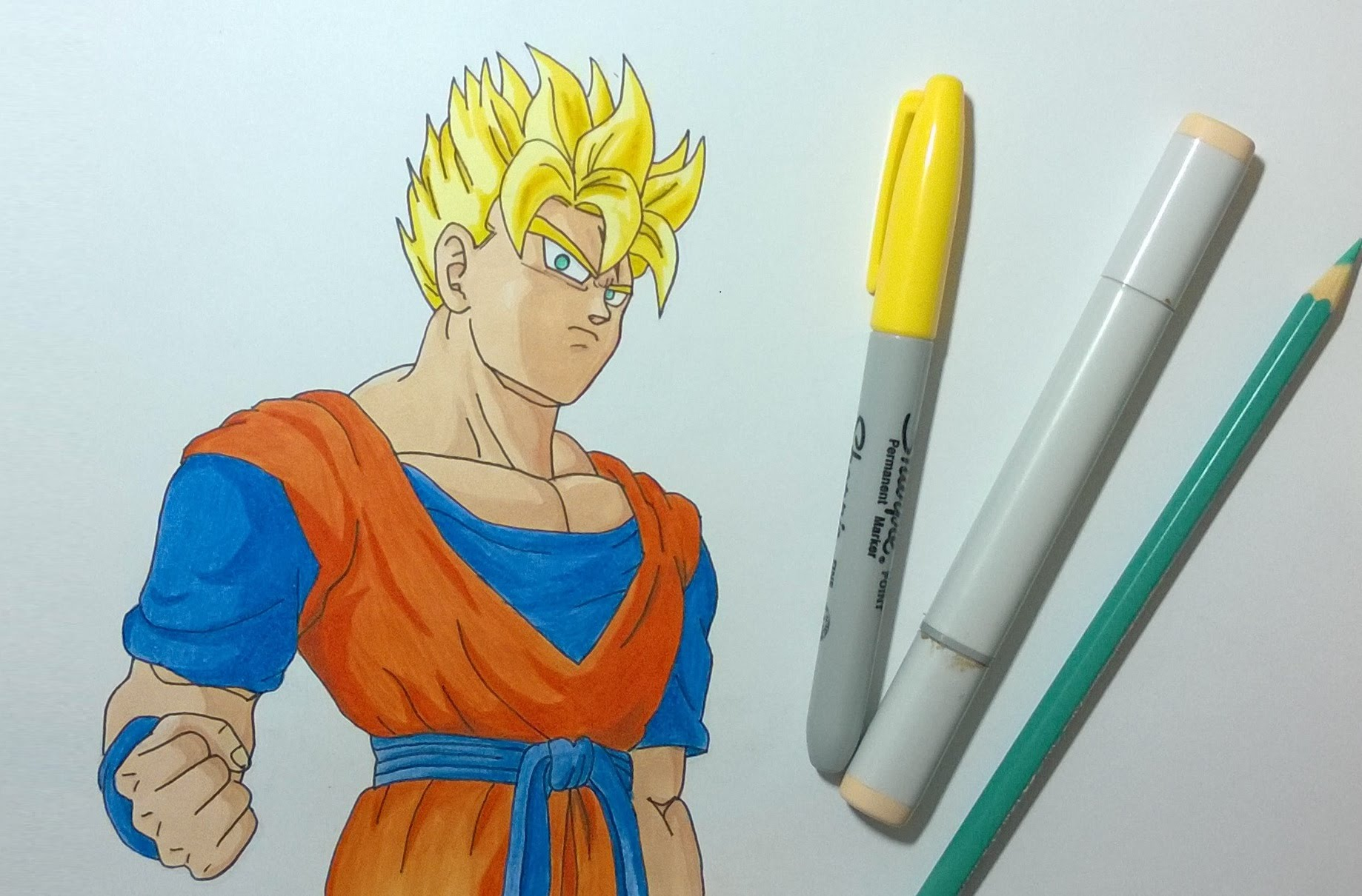 1838x1210 Drawing Future Gohan Super Saiyan