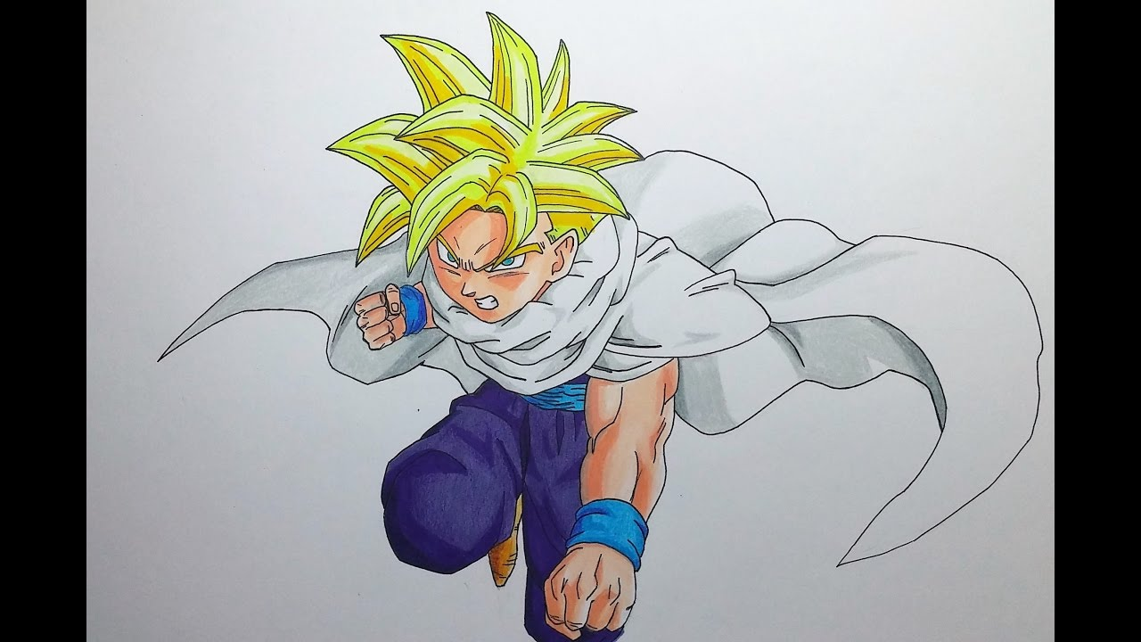 1280x720 Drawing Teen Gohan Super Saiyan