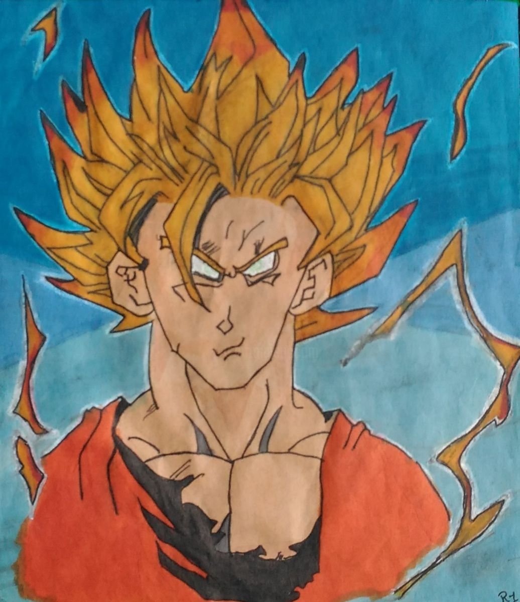 Dragon Ball Z Goku Drawing At Getdrawings Free Download