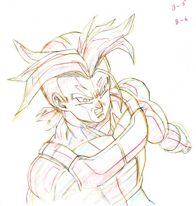665x700 Dragon Ball Z Kai Cel Cell Celluloid Cellulo Hand Drawn Animation