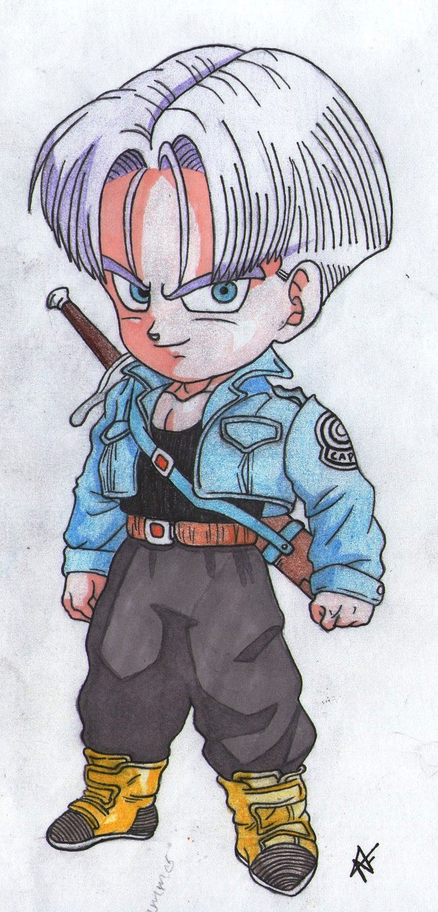 620x1289 Dbz Future Trunks Chibi By Thesexychurro