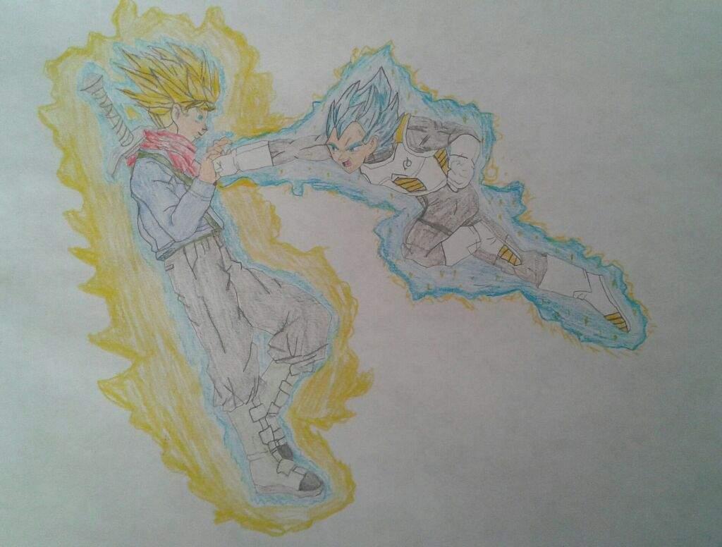 1024x776 Ssb Vegeta And Fssb Trunks Drawing Dragonballz Amino