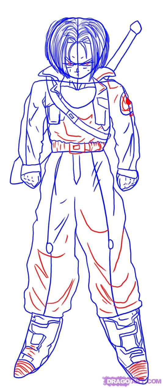 534x1272 How To Draw Trunks From Dragon Ball Z Step 5 Things To Help