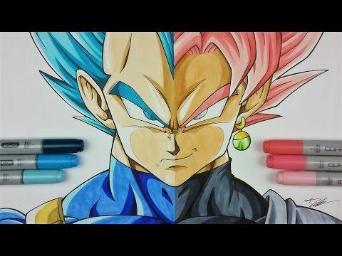 480x360 Drawing Vegeta Vs Goku Black Dragonball Super Tolgart