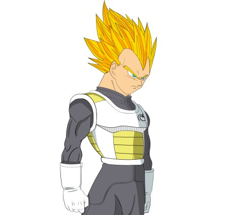 449x424 How To Draw Vegeta From Dragon Ball Super