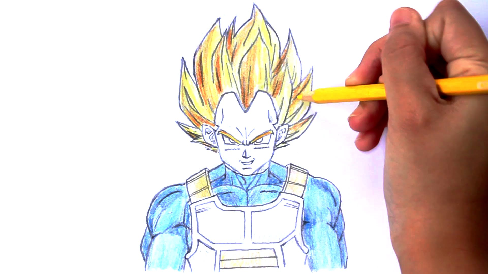 1920x1080 How To Draw Vegeta From Dragon Ball Z