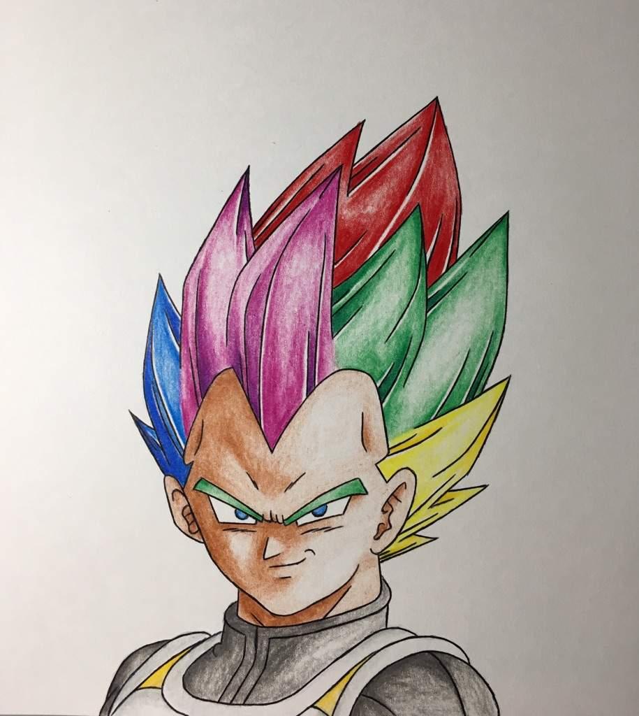 915x1024 Vegeta Rainbow Super Saiyan Drawing Dragonballz Amino