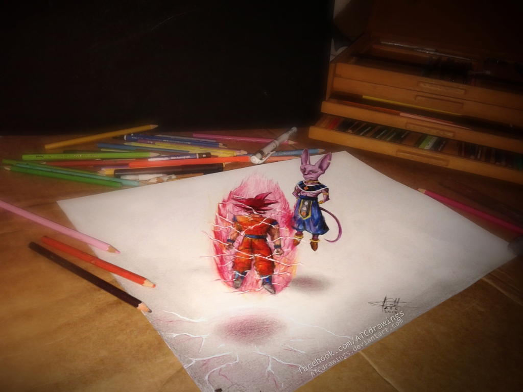 1024x768 3d Pencil Drawings Of Dragon Ball Z