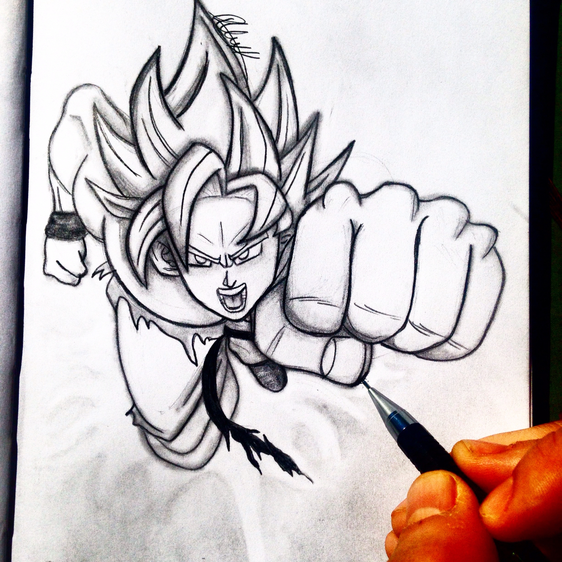 1136x1136 3d Pencil Drawings Of Dragon Ball Z Artalex Khleif. Pencil Sketch