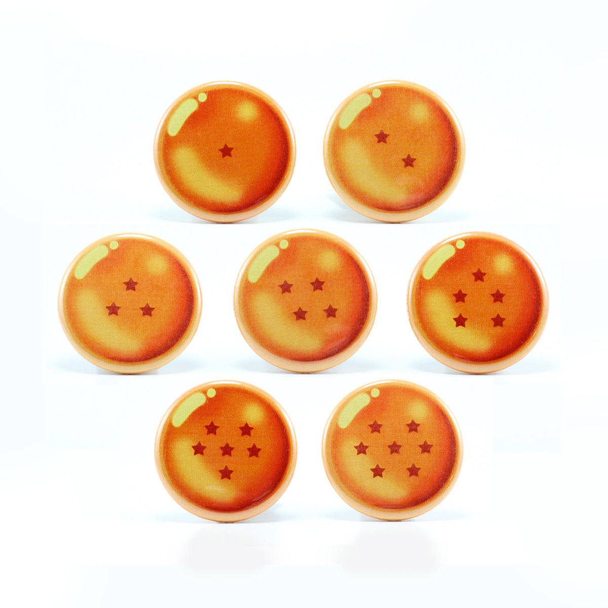 1200x1200 Funny Buttons And Stuff Dragon Ball Z Set Of 7 1.25'' Button Pins