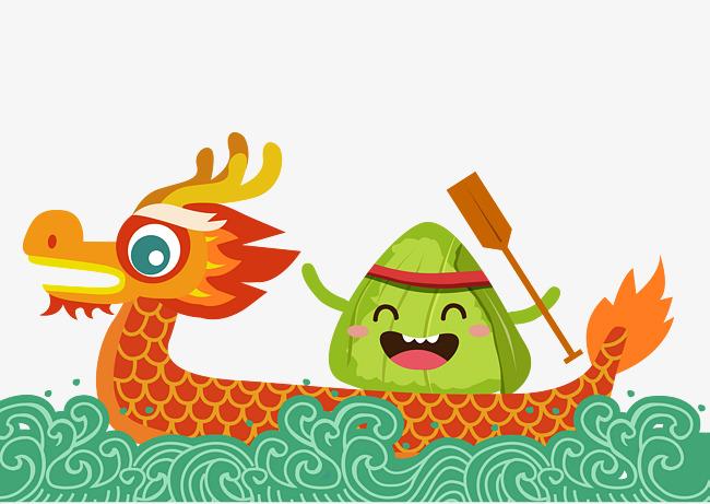 650x461 Dragon Boat Dragon Boat Dumplings Vector Hand Drawing, Dragon Boat