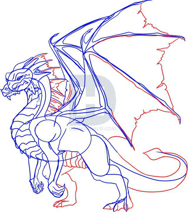 638x720 Step By Step Dragon Drawing Dragon Eyes Step By Step Step By Step