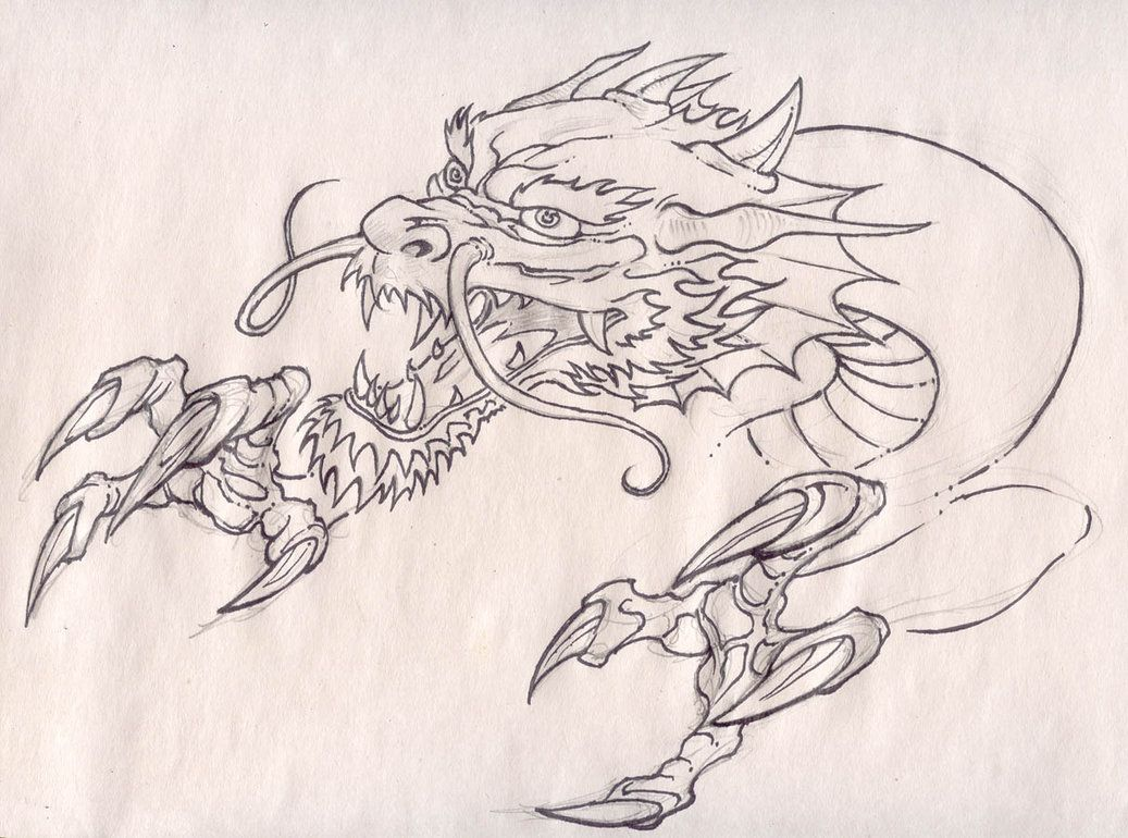 1037x770 Dragon Head And Claws By Pancho Villa.jpg Pic To Draw