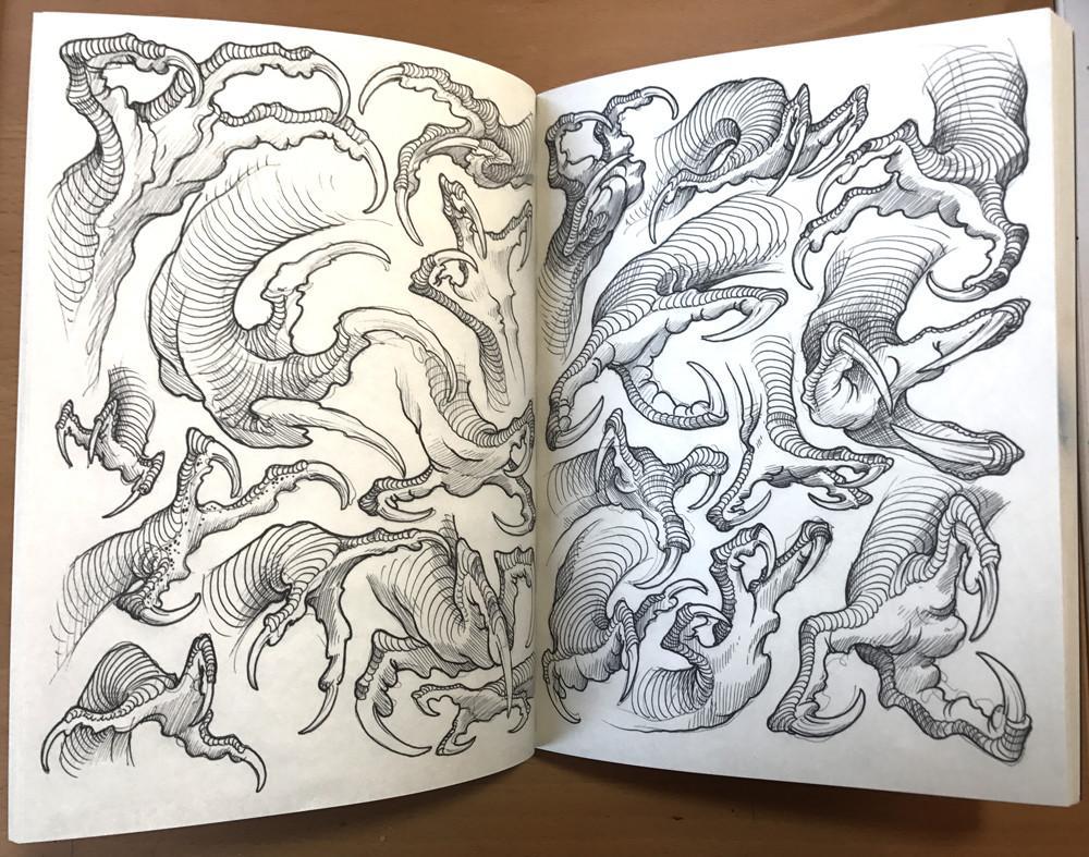 1000x787 Filip Leu Dragon Claws Humanfly Tattoo