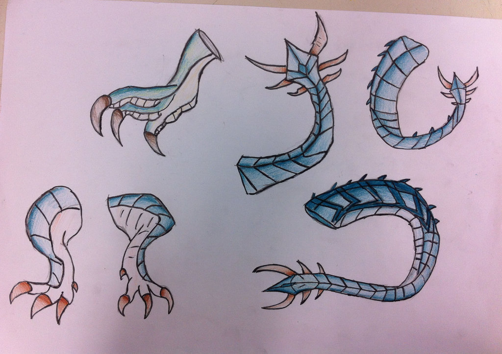 1024x723 Ice Dragon Claws And Tails By Viperwings
