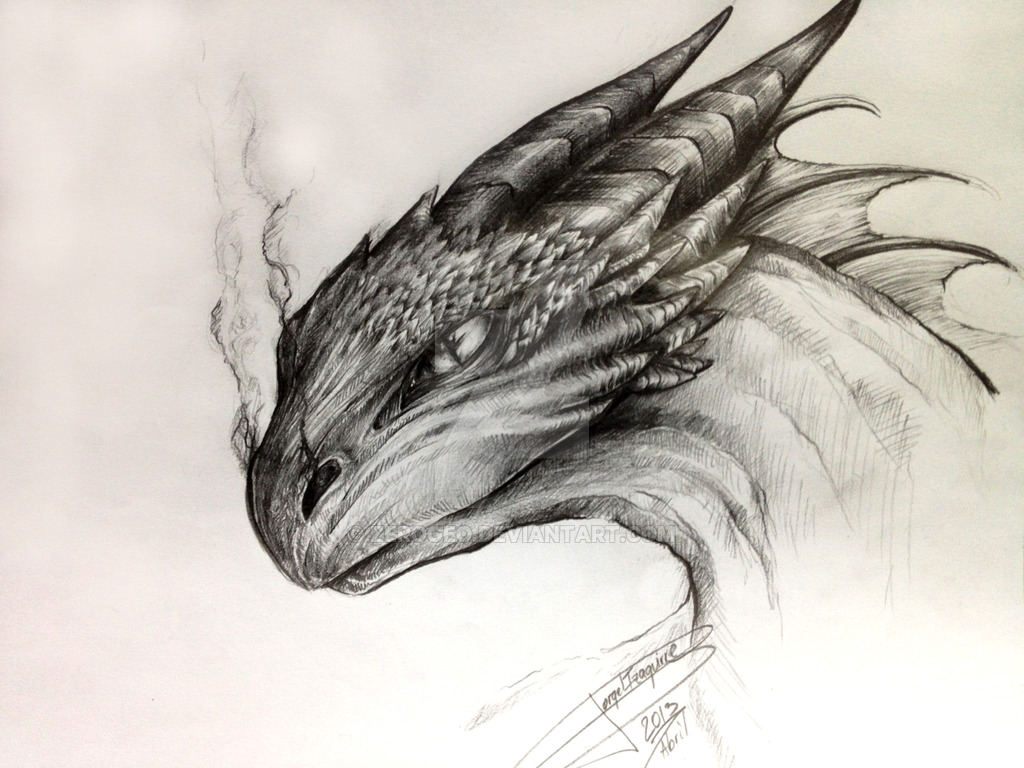 1024x768 Dragon Drawing By Zerogeo