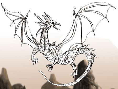 450x338 How To Draw A Dragon