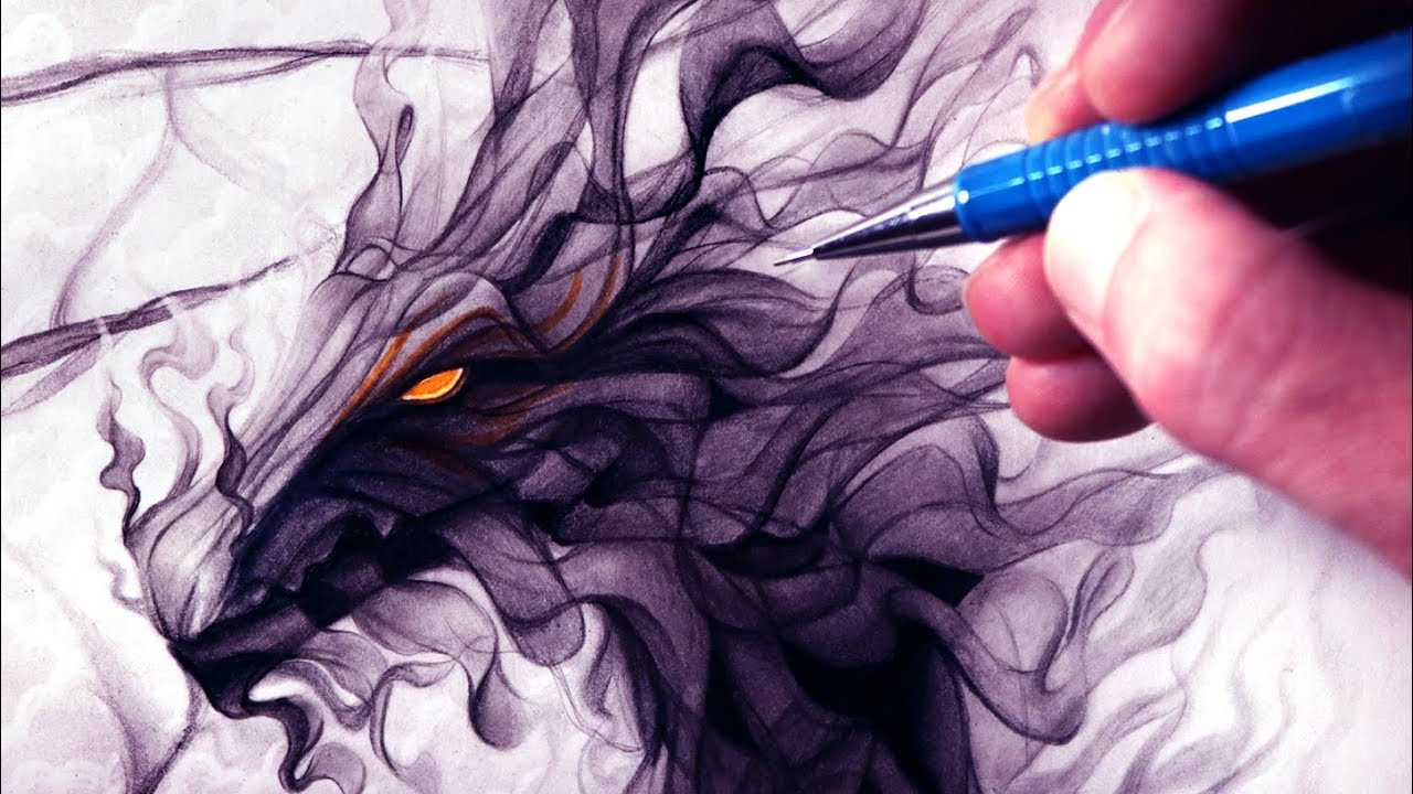 1280x720 Let's Draw A Smoke Dragon