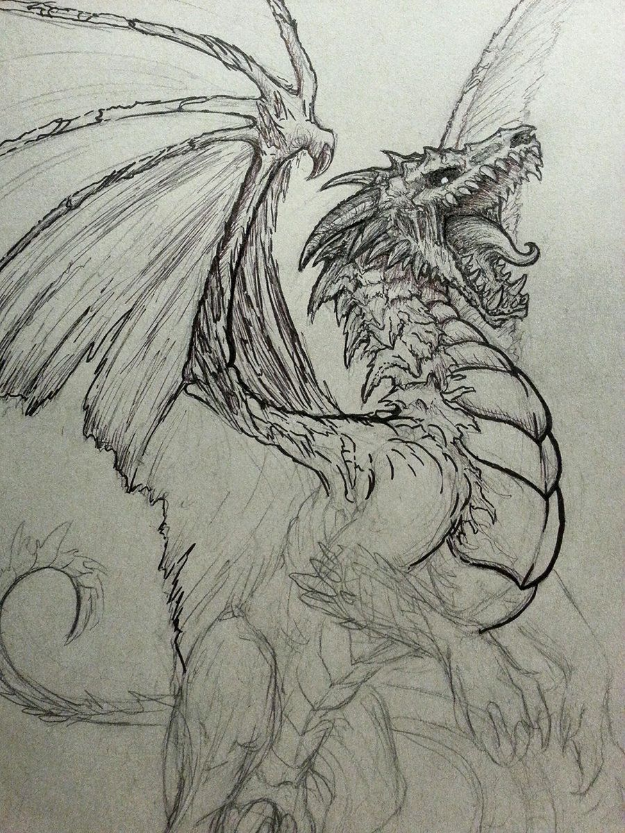 900x1200 Undead Dragon Sketch By Crystalsully On Dragons