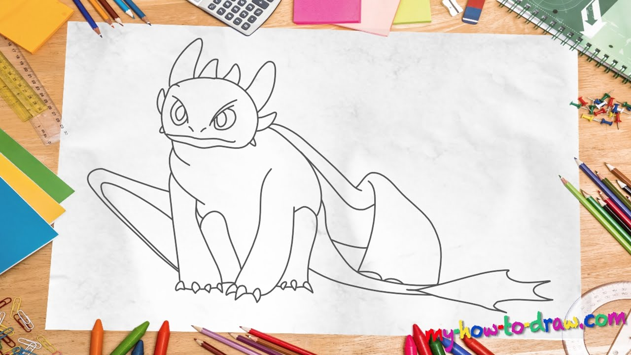 1280x720 How To Draw Toothless Dragon