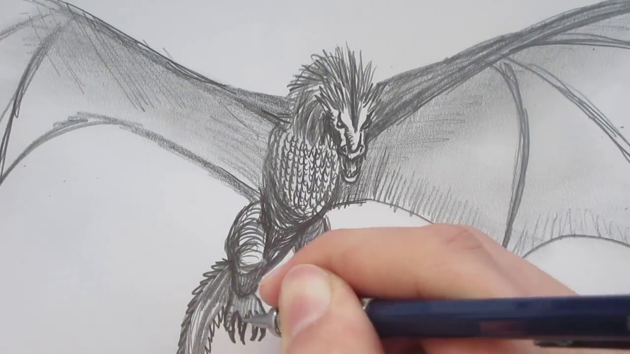 1280x720 Drawing The Dragon From Game Of Thrones