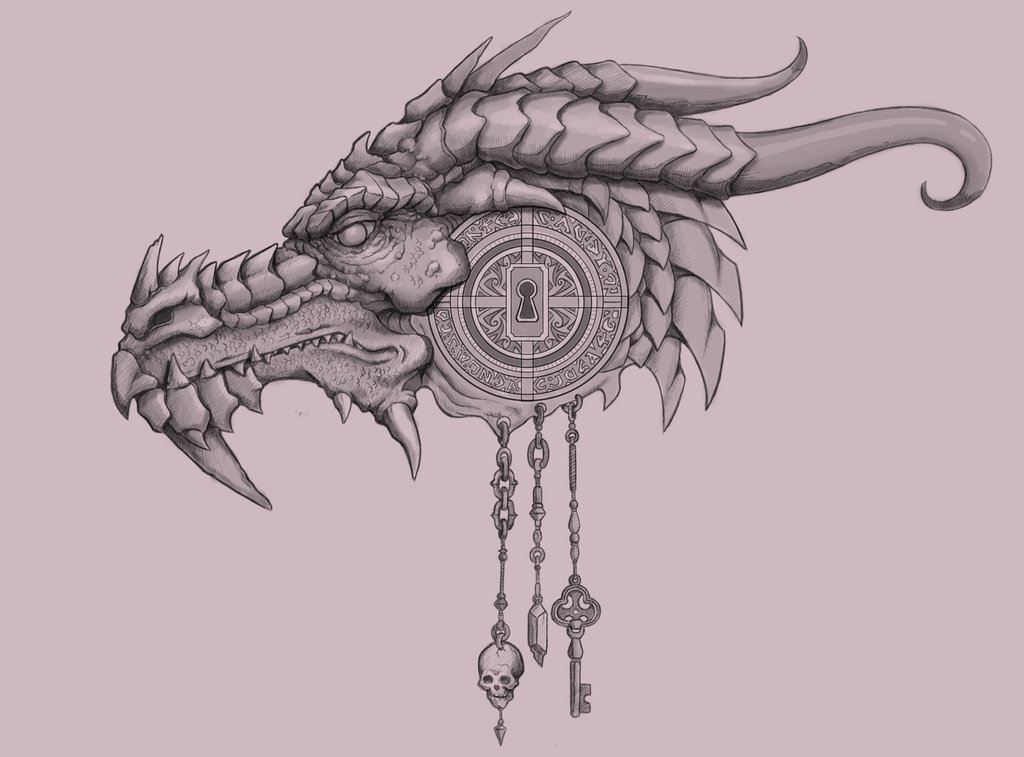 Line Drawing Net : Dragon drawing head at getdrawings.com free for personal use