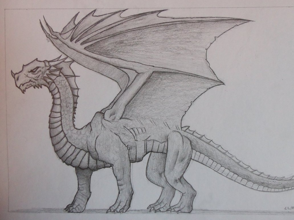 1032x774 Dragon Drawing