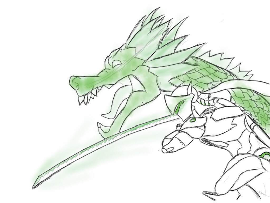 1024x768 Genji and dragon drawing Overwatch Amino