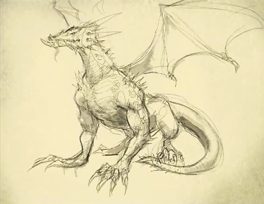 913x704 How to draw a dragon