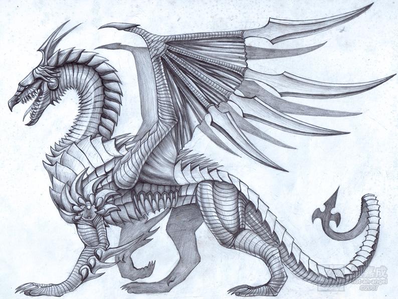 794x597 Steel Edge Dragon By Jiachengwu