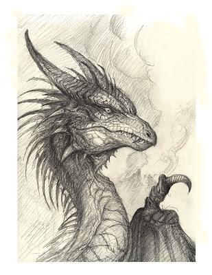 309x400 Bob's Art Du Jour A Dragon Drawing