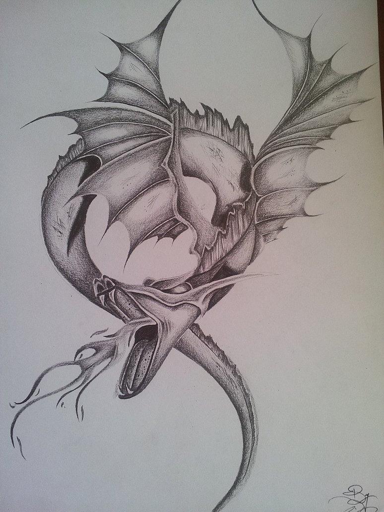 774x1032 Fantasy Dragon Pencil DRAWING