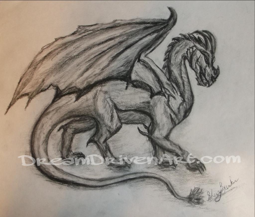 1024x872 Pencil Drawings Dragons Charcoal Dragon Drawing Dream Driven Art