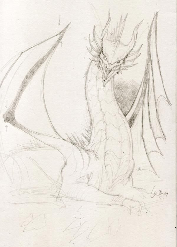 600x836 pencil drawings dragons