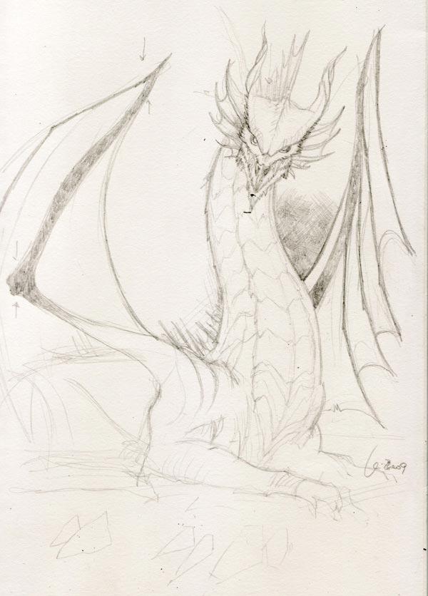 600x836 Pencil Drawings Dragons