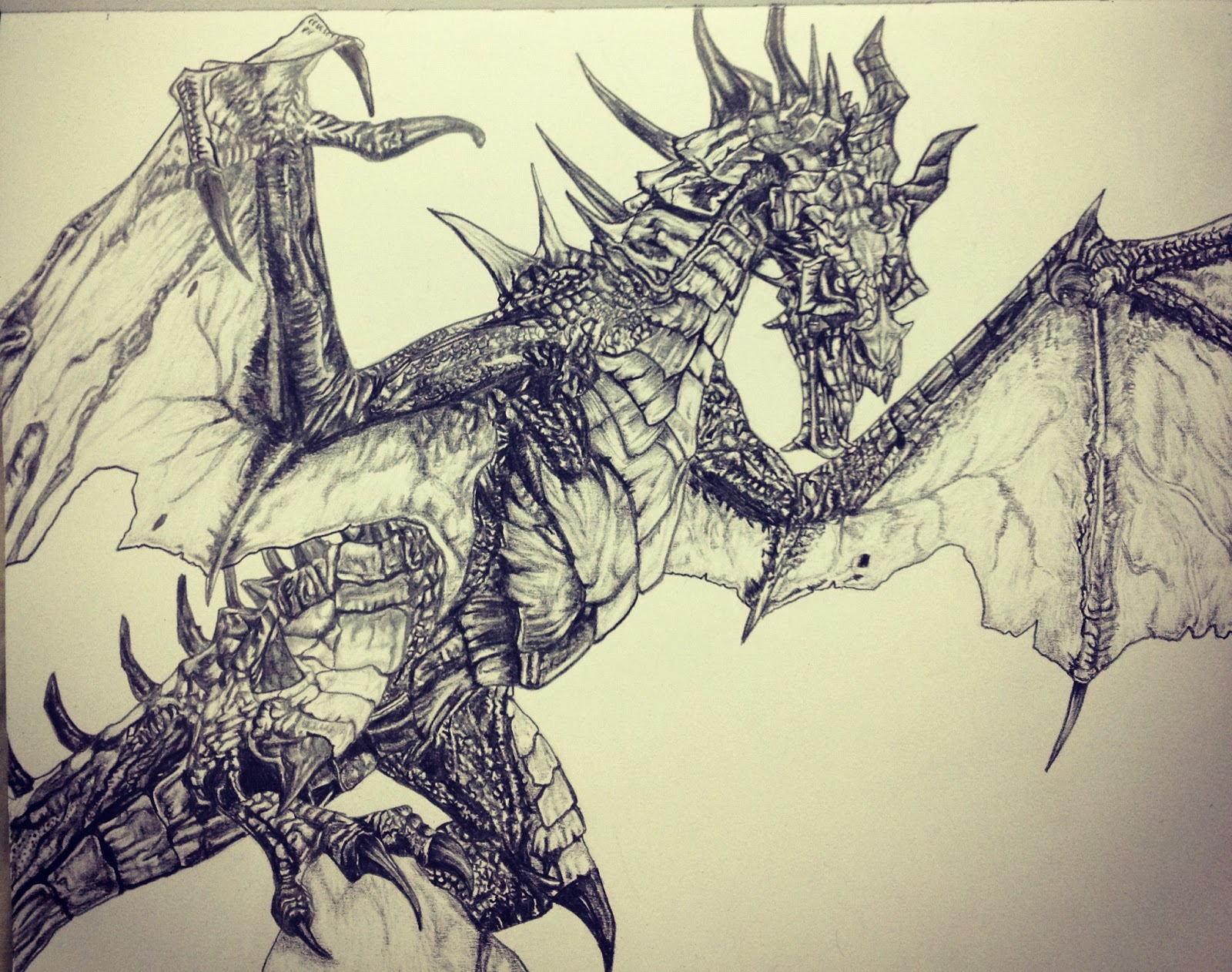 1600x1262 Pencil Dragon Drawings Skyrim Dragon Drawings In Pencil Dragon