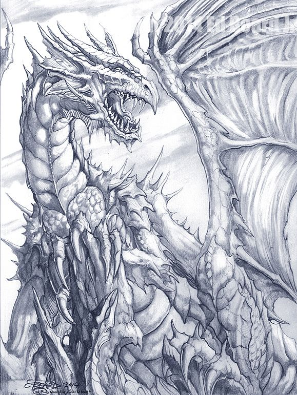 579x771 Glacier Dragon King By Ed Beard Jr Dragon Fantasy Myth Mythical