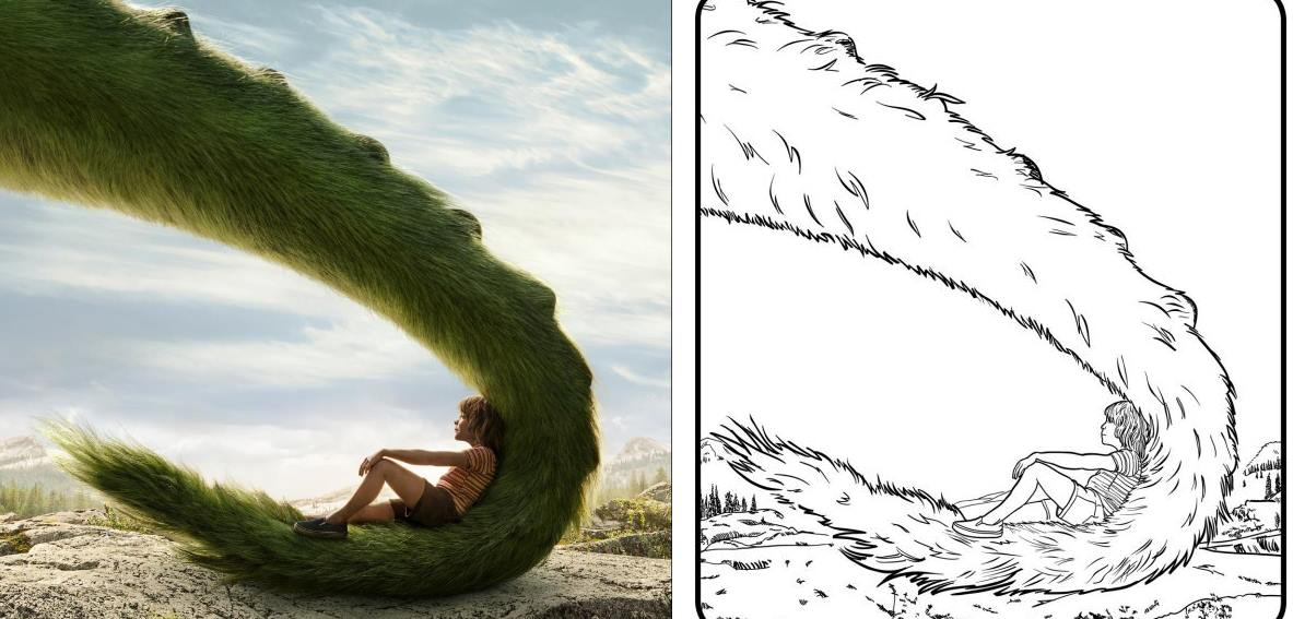 1183x567 Pete's Dragon Coloring Pages And Activities