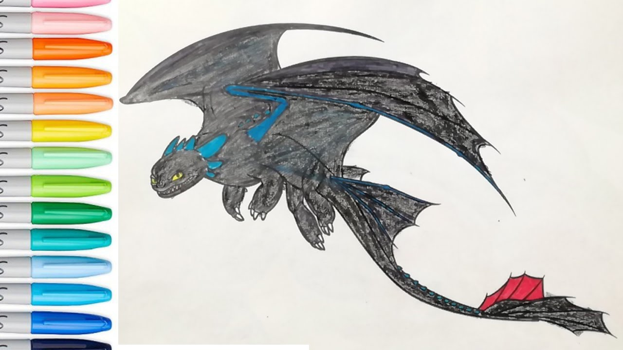 1280x720 Stormfly Coloring Book Page How To Train Your Dragon SAILANY