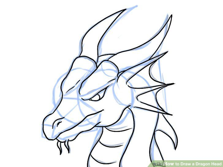 728x546 Draw a Dragon Head Dragon head, Dragons and Woodburning