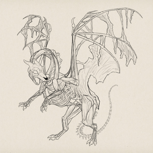 600x600 Create Zombie Dragon Concept Art Design And Sketch