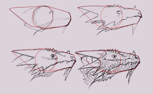 500x306 How To Draw Dragons 50 Best Dragon Drawing Tutorials