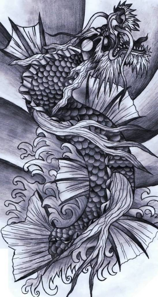 Dragon Fish Drawing At Getdrawings Com Free For Personal Use