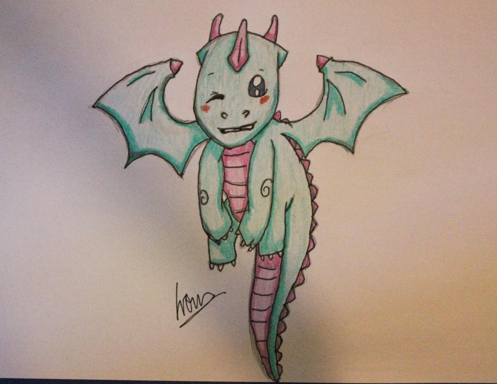 1024x793 Cute Dragon Drawings How To Draw A Cute Dragon, Stepstep, Dragons
