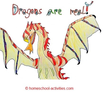 440x393 How To Draw A Dragon Art Projects For Kids
