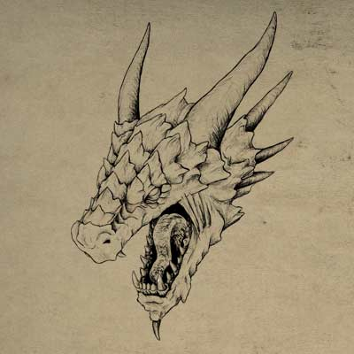 400x400 How To Draw A Realistic Dragon Head In 3d Space